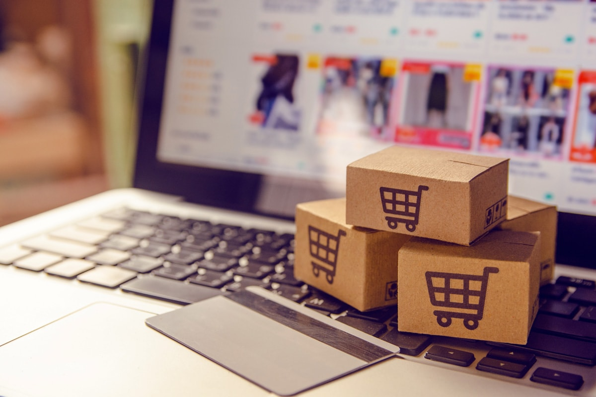 Shopping online concept – Shopping service on The online web. wi